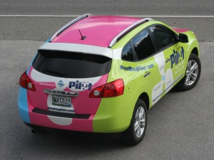 Adventure Advertising wrapped this Nissan for Penobscot Bay Pilot.