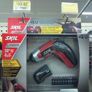 black and red electric screwdriver