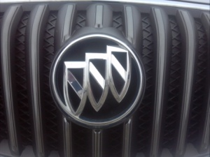 Buick badge.