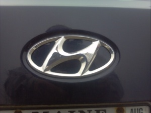 Hyundai badge.