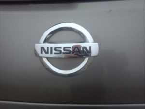 Nissan badge.