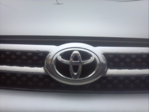 Toyota badge.